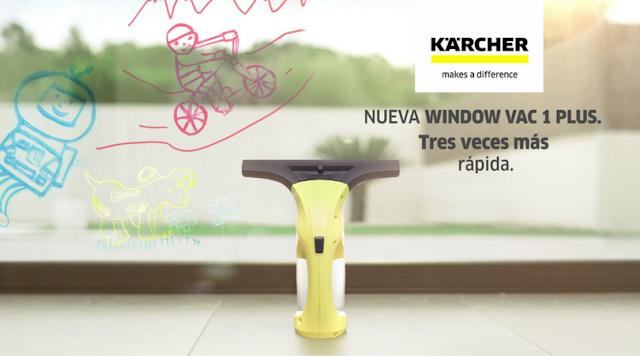 Kärcher WV1 PLUS limpiadora de cristales el tiempo que se merecen