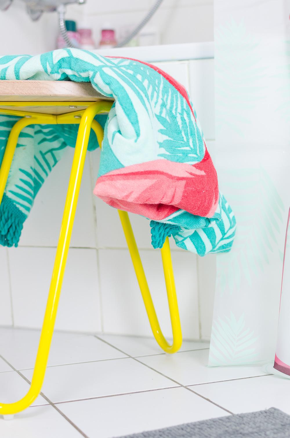 mein badezimmer welcome to miami mit tchibo. Black Bedroom Furniture Sets. Home Design Ideas