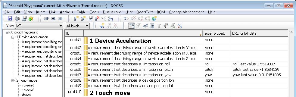 DXL IoT column in DOORS module  sc 1 st  doors 9 - blogger & DOORS 9: DOORS in IoT World pezcame.com