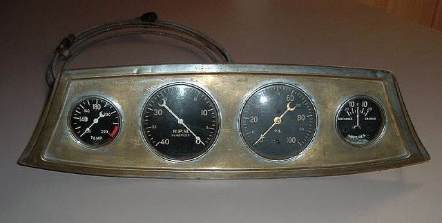 Deadly Curves Stewart Warner Boat Gauge Panels
