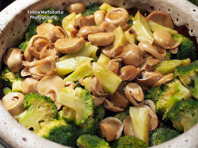 Broccoli & Mushroom In Oyster Sauce