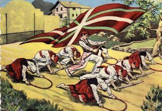 danse basque drapeau ikurrina