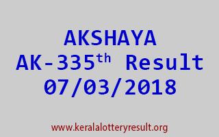 AKSHAYA Lottery AK 335 Results 07-03-2018