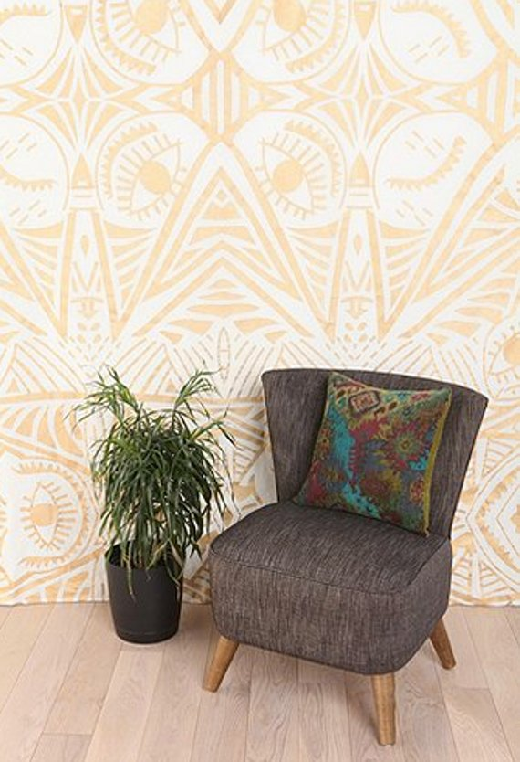 tapestry - part of a roundup of wall covering ideas for renters! lots of good ideas