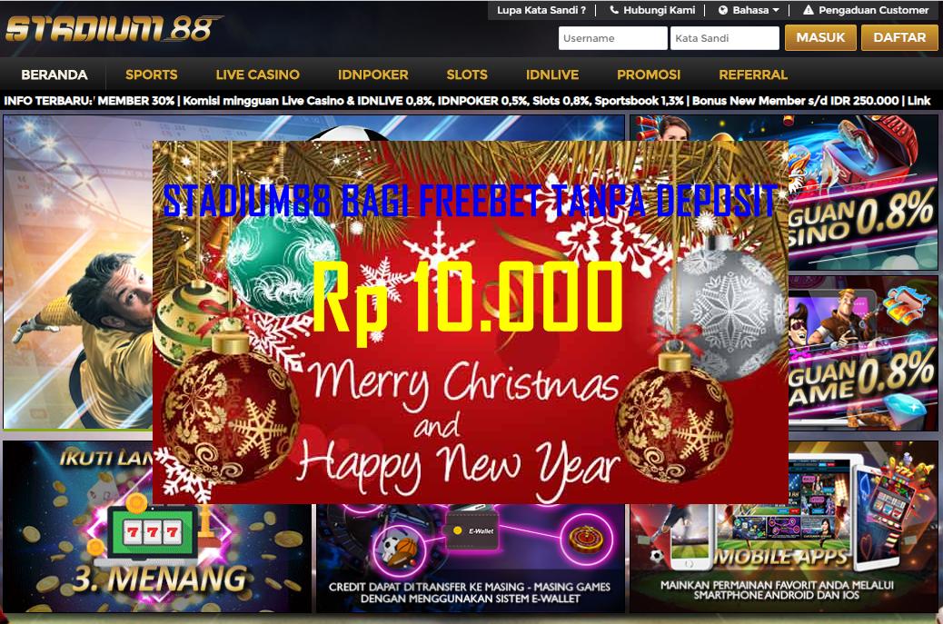 Dunia Freebet Stadium88 Com Freebet Gratis Rp 10 000 Tanpa Deposit