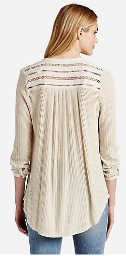 Lucky Brand Henley Shirt Back