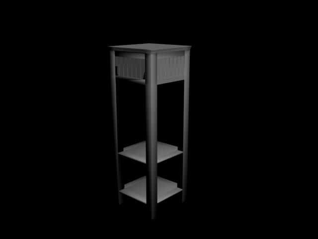 Raflı Dolap 3D Model