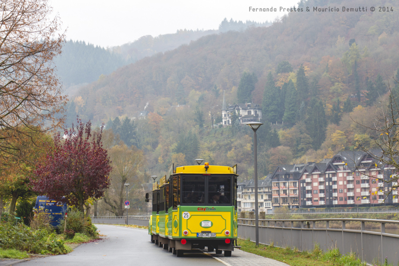 trem turístico de Cochem na Alemanha