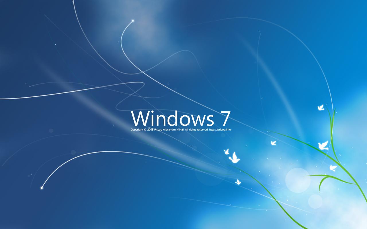 Download Wallpapers Windows 7 4k Se7en Blue Background: Wallpaper: Wallpaper Cannot Be Changed In Window 7