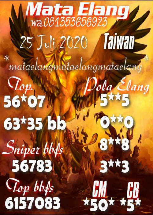 Kode syair Hongkong Sabtu 25 Juli 2020 62