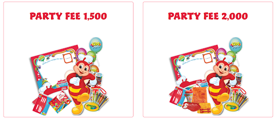 Jollibee party package price 2018 - party fee