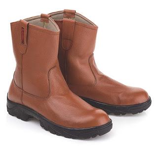 Sepatu Safety Model Boots Tanpa Tali LBU 865