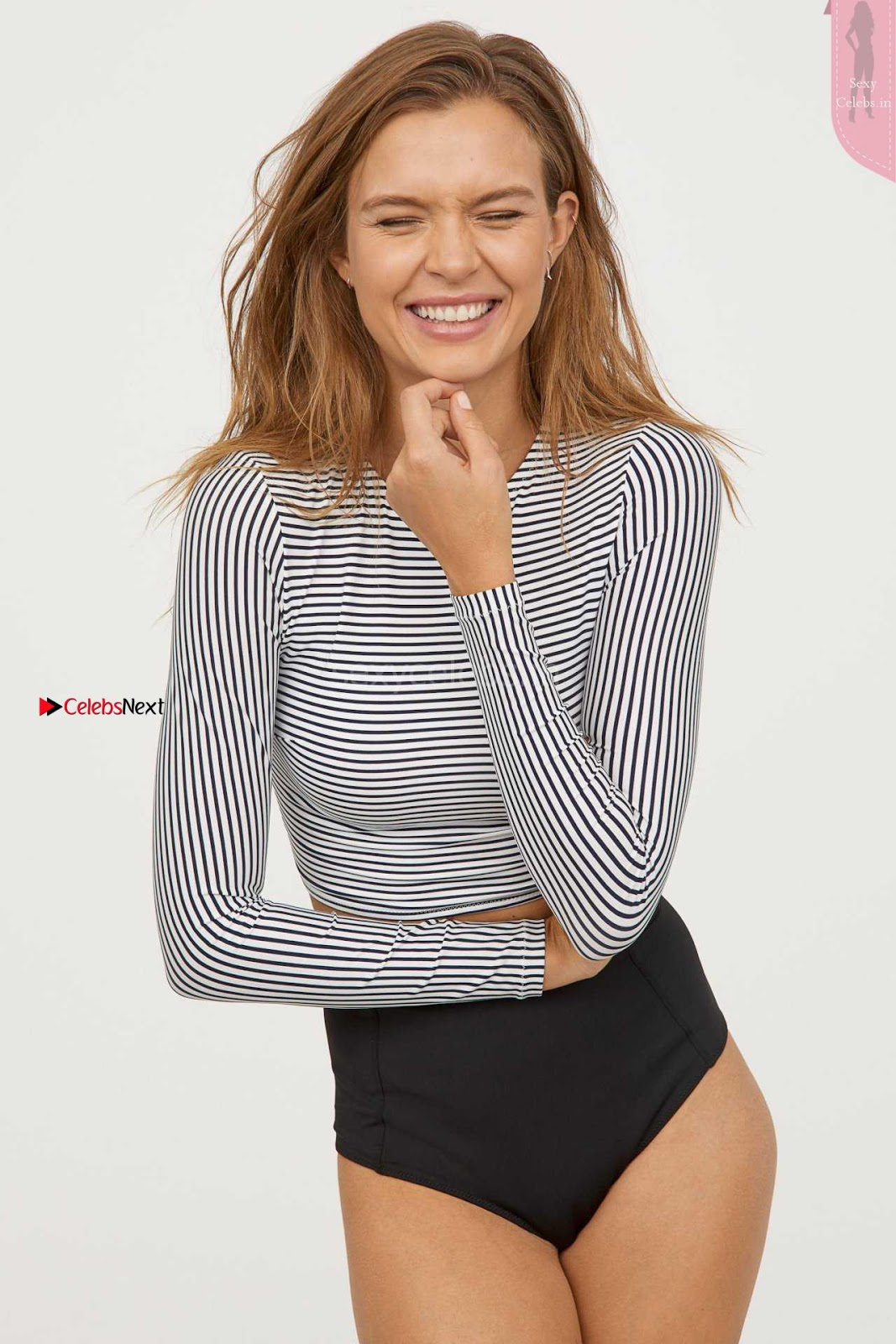 Josephine Skriver Cleavages Boobs Hot huge ass in H n M Swimwear 2018 Campaign ~ SexyCelebs.in Exclusive