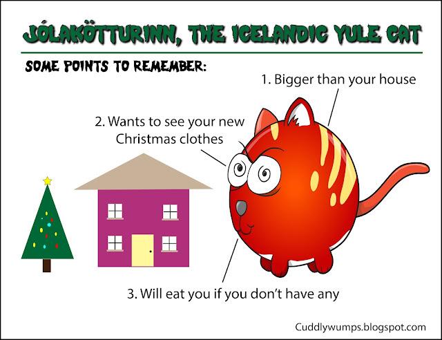 Jólakötturinn , the Icelandic Yule Cat: Some Points to Remember #Jólakötturinn #YuleCat