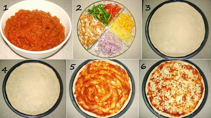 how to make veg pizza at home without oven
