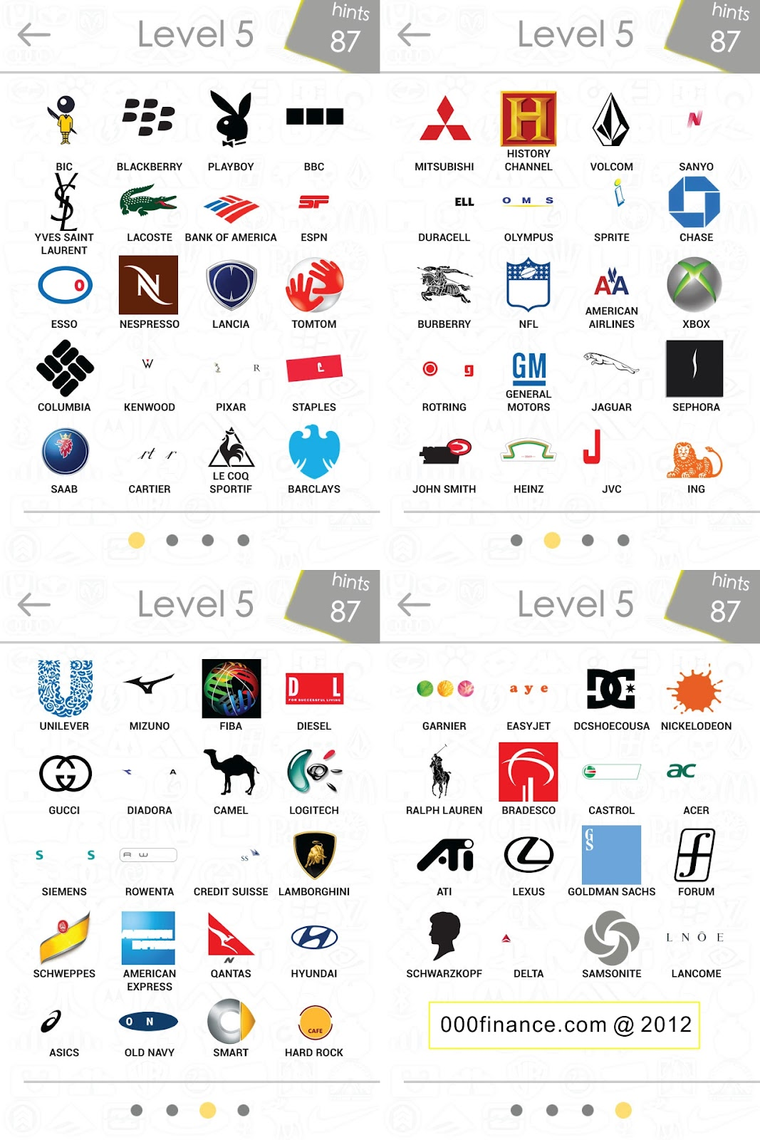 Logo Quiz Answers Level 5 Only Logos Quiz Answer Leve...