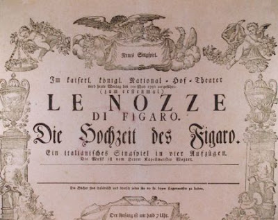 Le Nozze di Figaro affiche 1786