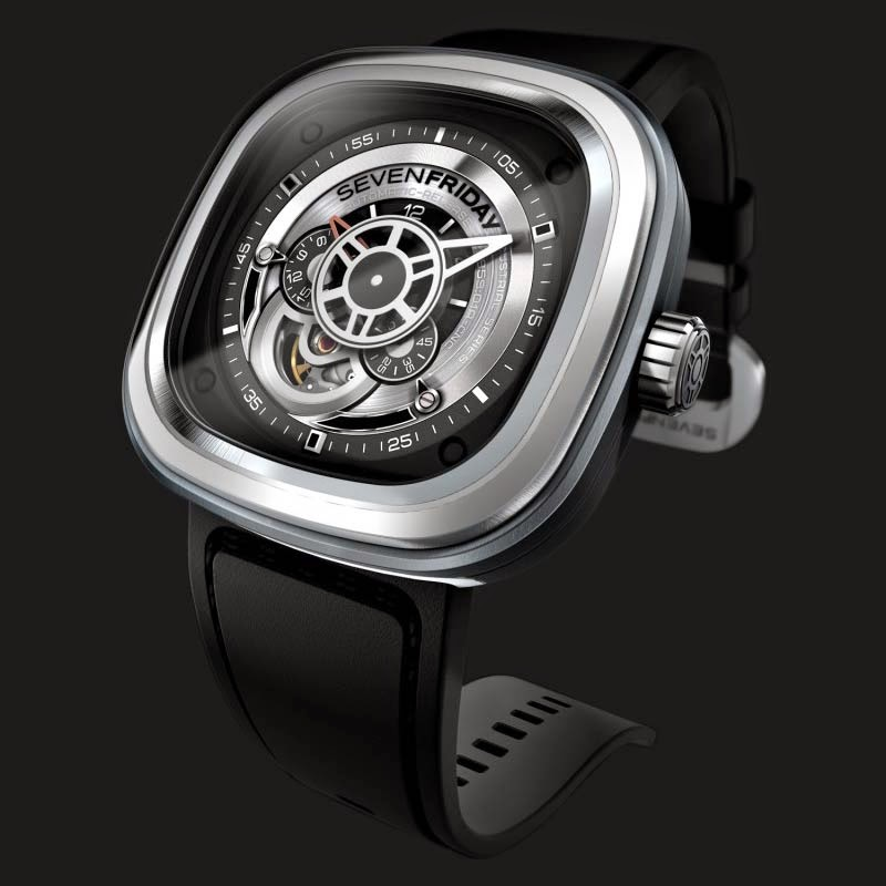 SEVENFRIDAY P1-1 Silver - Industrial Essence