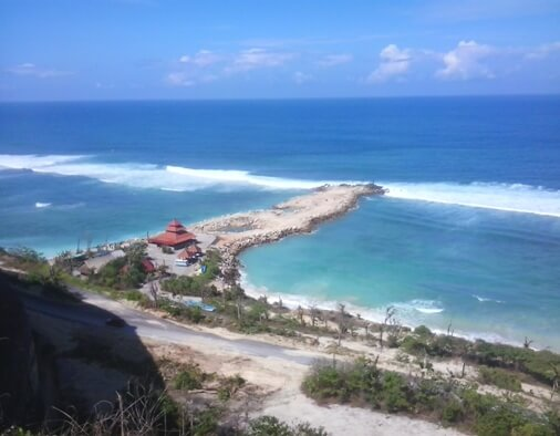 Melasti Beach Ungasan Bali Amazing Beach And Aerial View