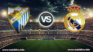 مشاهدة مباراة ريال مدريد ومالاجا real madrid vs malaga cf في الدوري الاسباني بث مباشر علي موقع ملعب لايف
