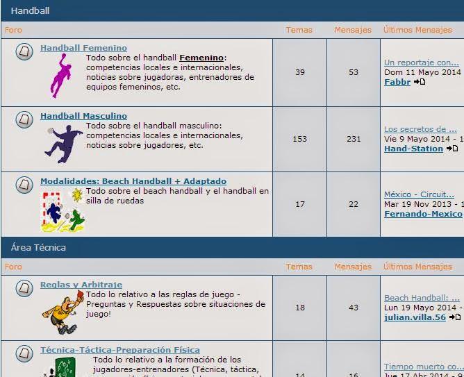 Cambios en el foro | Mundo Handball