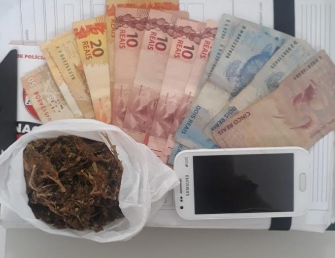 Polícia Militar prende traficante de drogas em Capim Grosso