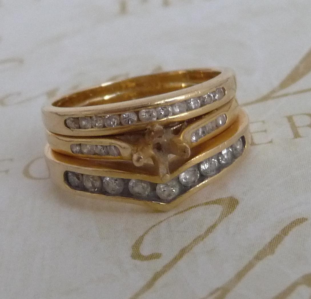 Look At My Shiny Wedding Rings!