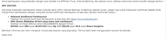 link untuk konfirmasi di kotak masuk email Anda