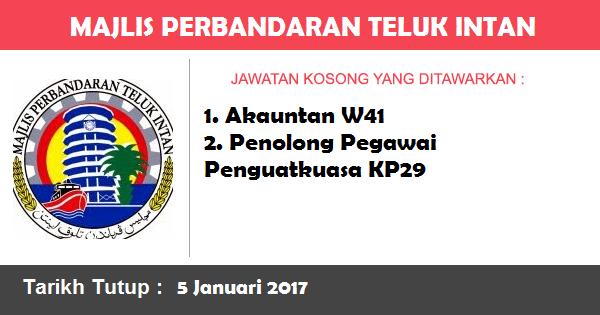 Jawatan Kosong di Majlis Perbandaran Teluk Intan