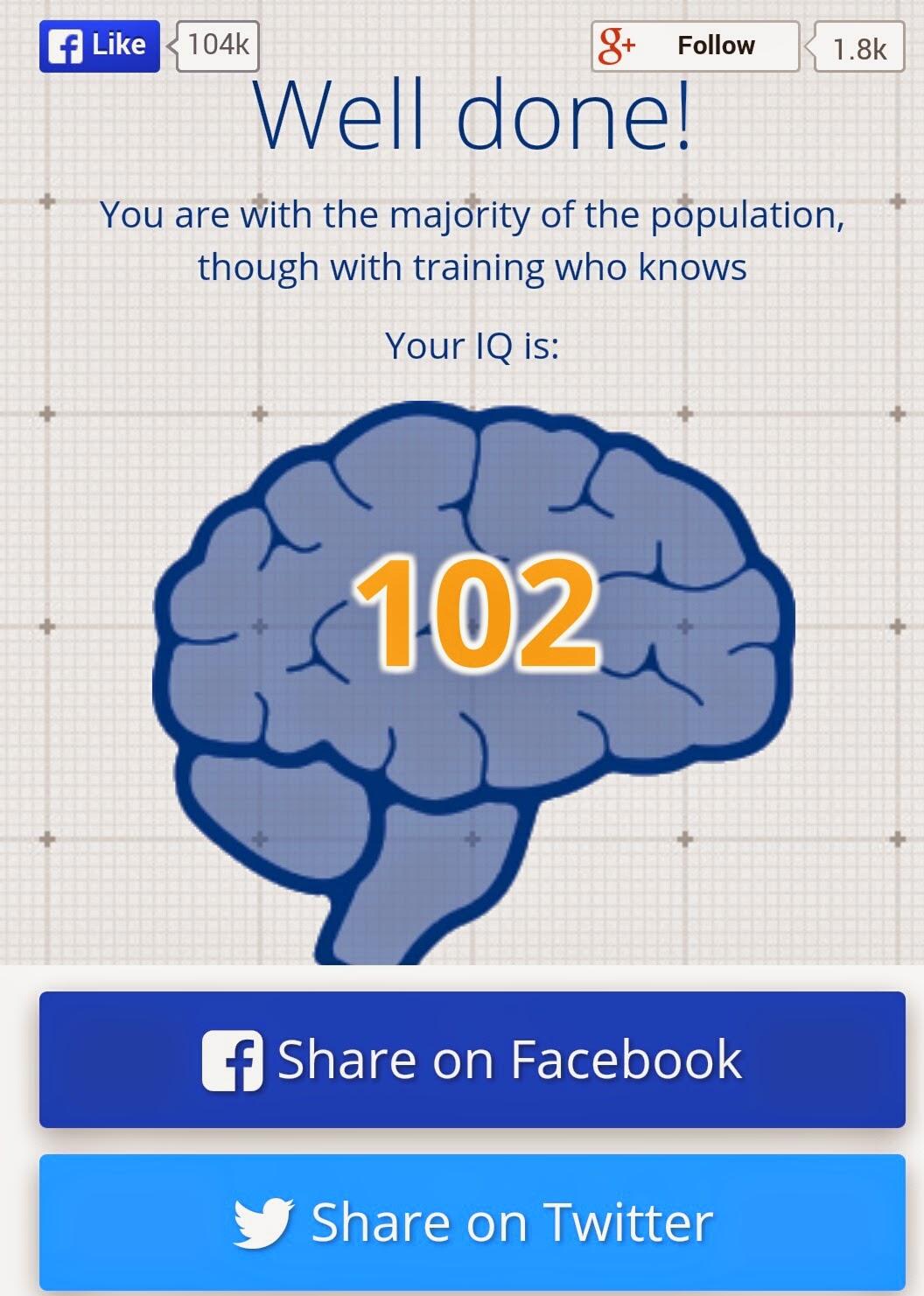 iq test på facebook