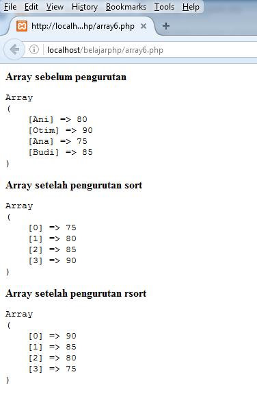 Contoh Penggunaan Array #6