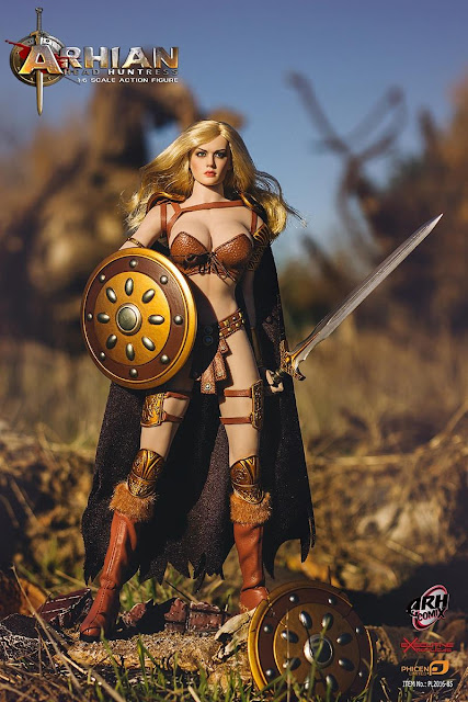 osw.zone PHICEN 1 / 6th scale Arhian Head Huntress 12-inch Female Fantasy Action Figure Preview pics