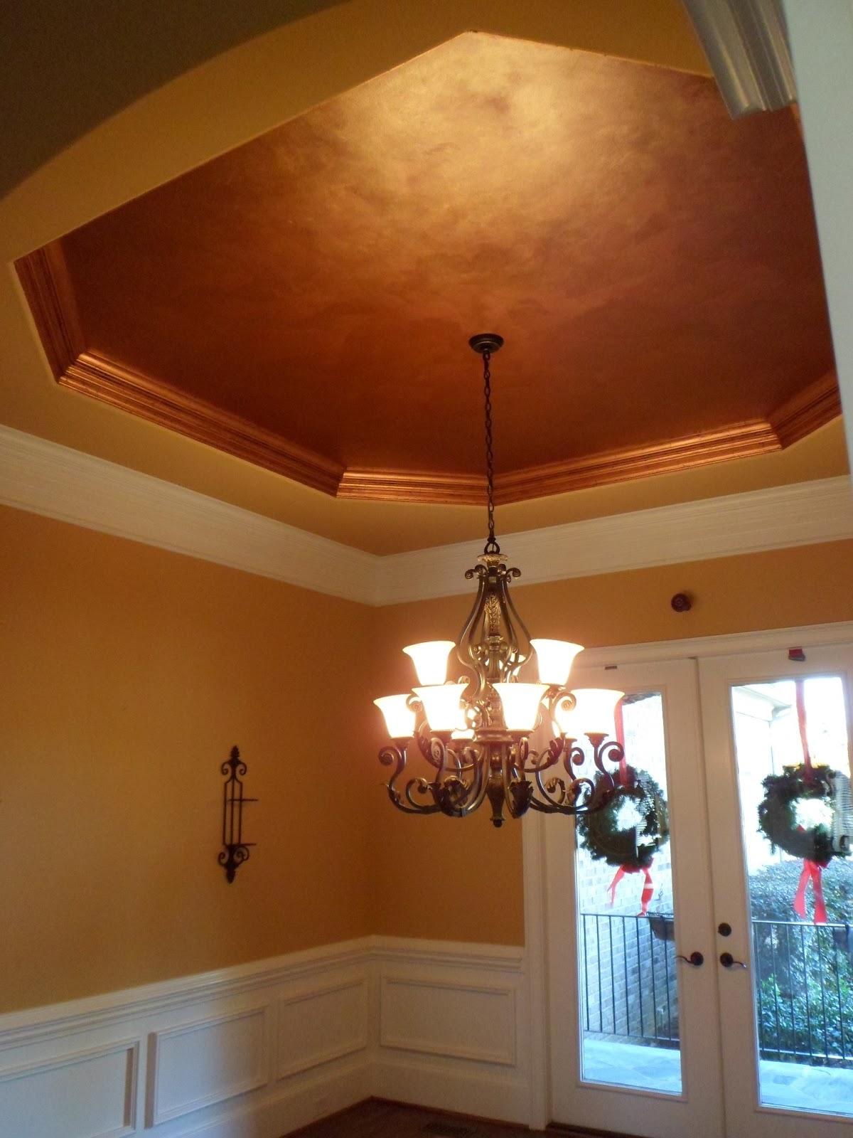 Savard Studios Dramatic Dining Room And Foyer Ceiling