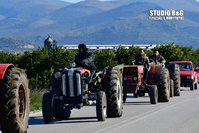 Κινητοποίηση των αγροτών της Αργολίδας στη ΔΟΥ Άργους (βίντεο)