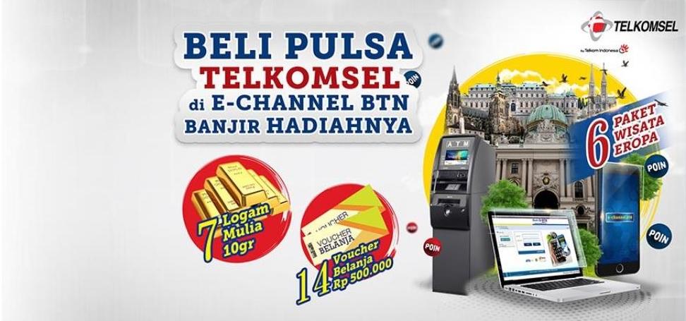 Bank BTN - Promo Undian Pembelian Pulsa Telkomsel di E-Channels BTN