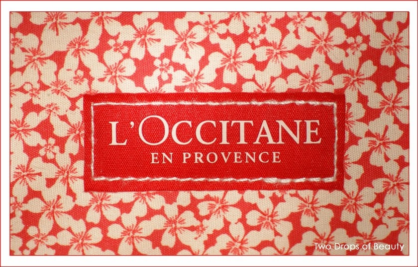 L'Occitane cosmetic bag red cherry