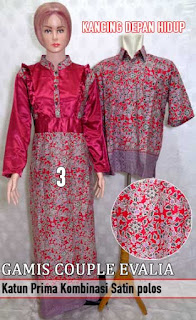 Gamis sarimbit batik murah nan trendy