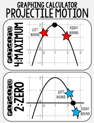 quadratics projectile motion graphing calculator poster