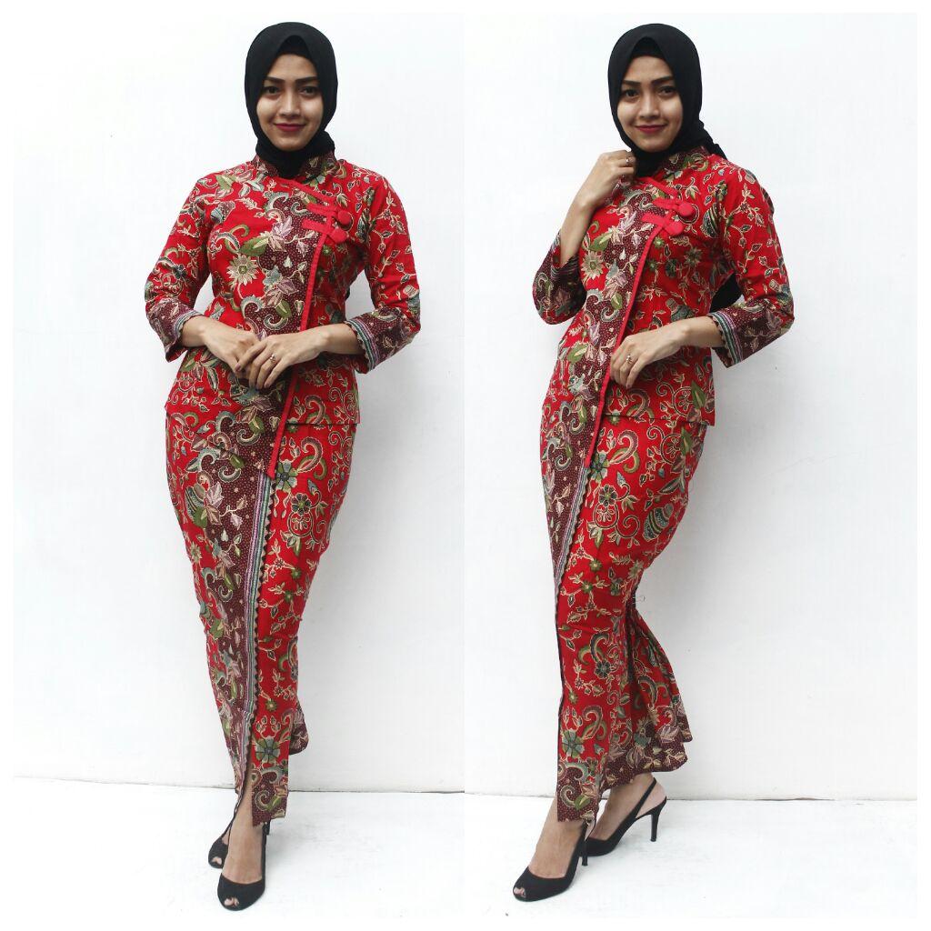 Kumpulan Setelan Baju Batik Gamis Muslim Modern