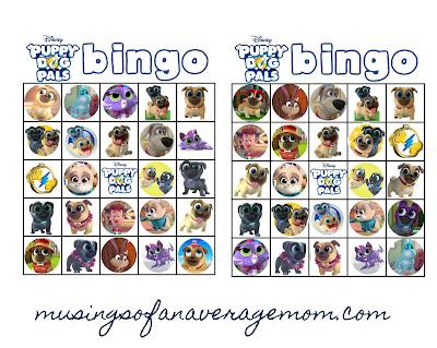 free puppy dog pals bingo