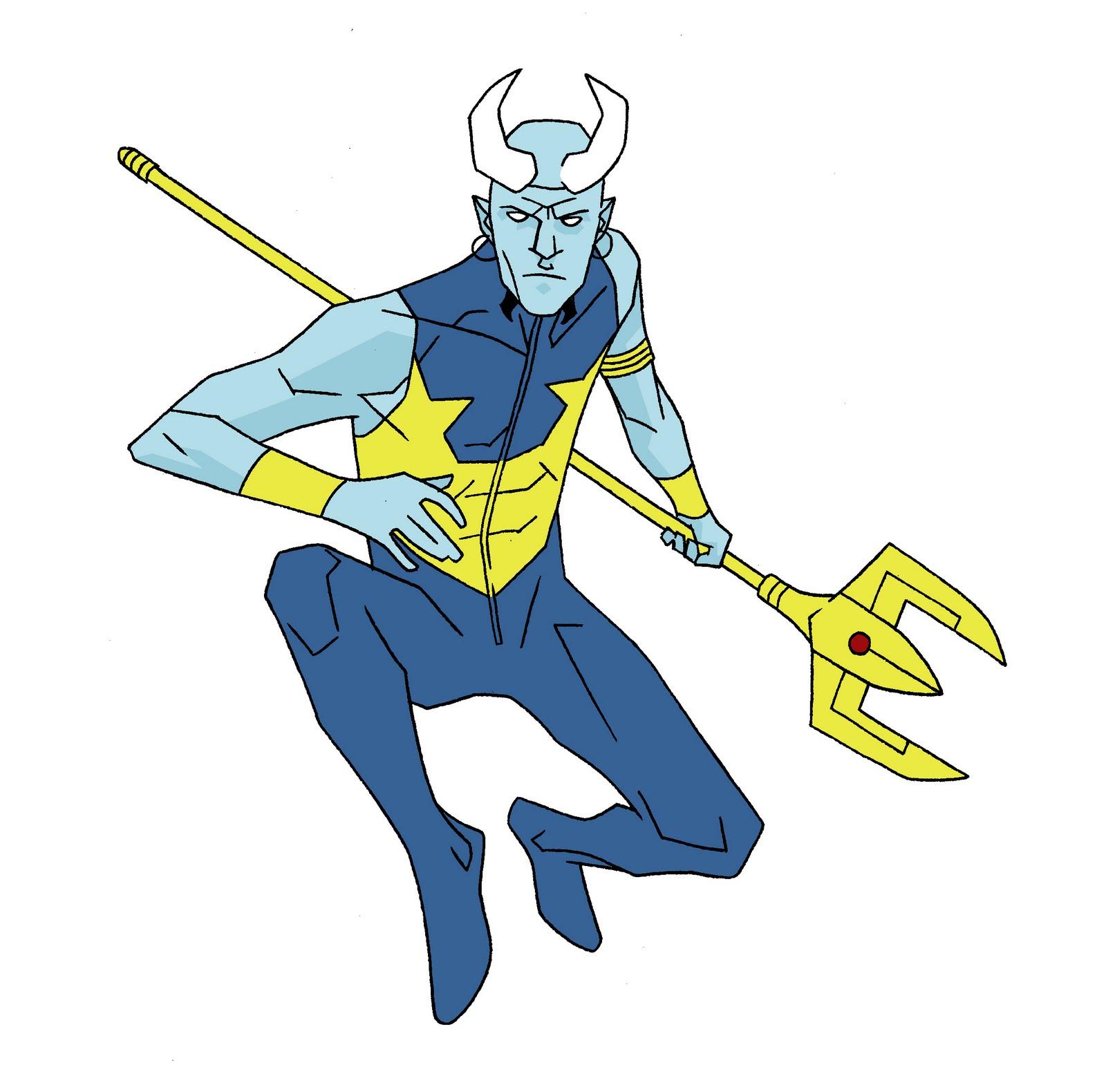 dcu Blue Devil concept wip b by Needham-Comics on DeviantArt