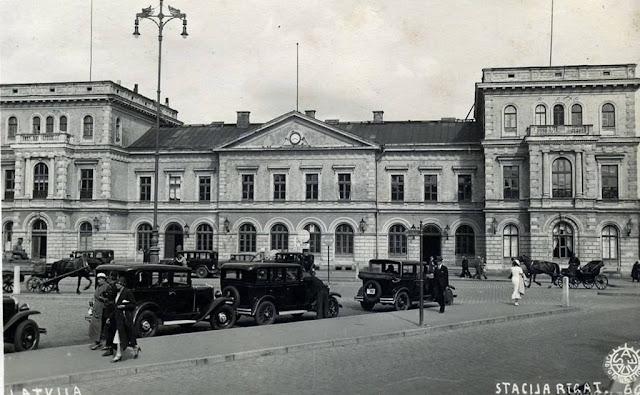 """1930-е годы. Рига. Динабургский (""""Рига-I"""") железнодорожный вокзал"""