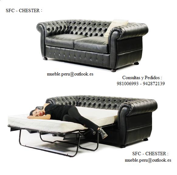 Mueble peru sakuray sofa cama americano sfc chester for Sofa cama chester