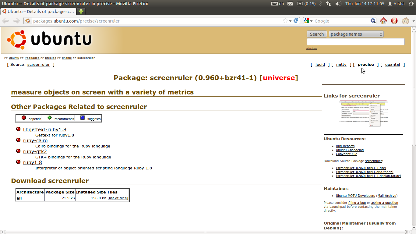 Ubuntu Digest: How to install the Screen Ruler in Ubuntu