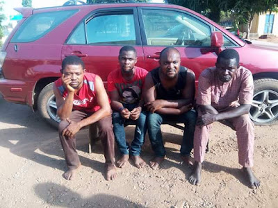 Member of car-snatching syndicate arrested in Benue revealed one of their victims was having sex with a woman inside his Toyota Highlander SUV