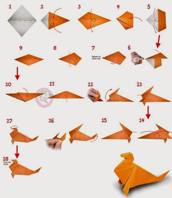 How to Make an Origami Dog Step by Step Instructions | Free ... | 657x571