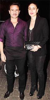 Saif Ali Khan with his wife Kareena Kapoor Khan