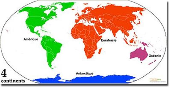 Mapa Mundi 4 Continentes