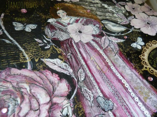 dama w stylu barokowym