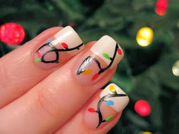 unhas para o Natal